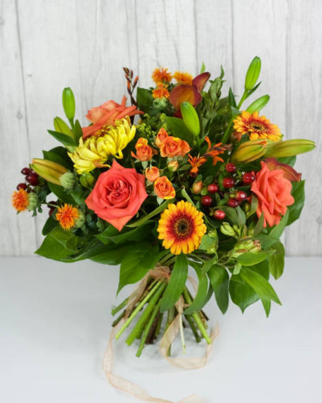 Orange Crush Selection - If they love the colour orange then they will love this! Every shade of orange to brighten their day. Includes Lily's and roses - Flowers in Newbury by Willow & Blooms